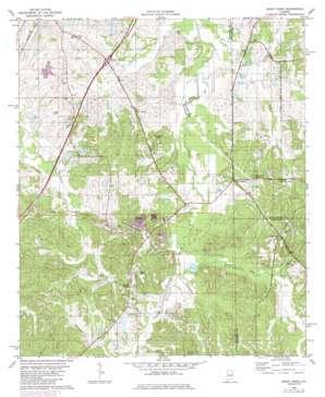 Sandy Ridge topo map
