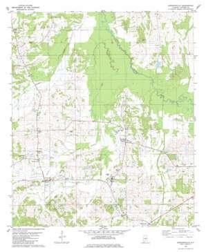 Gordonsville topo map