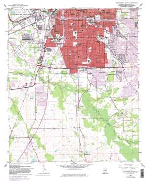 Montgomery South topo map