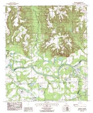 Brassell topo map