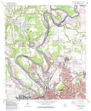 Montgomery North topo map