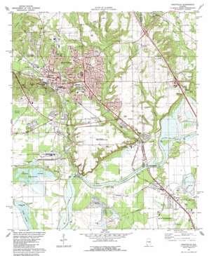 Prattville topo map
