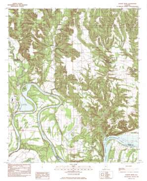 Durant Bend topo map