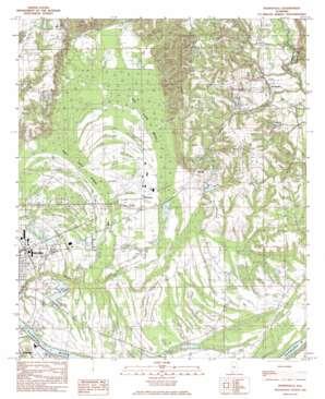 Burnsville topo map
