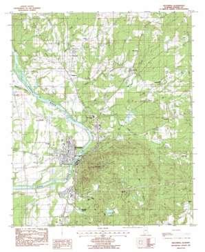Wetumpka USGS topographic map 32086e2