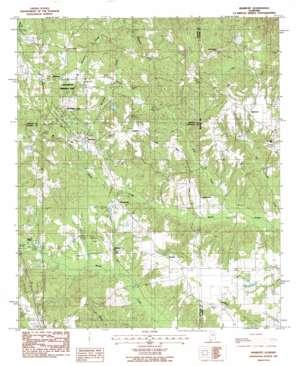 Marbury topo map