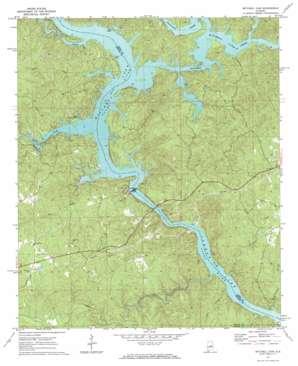 Mitchell Dam topo map