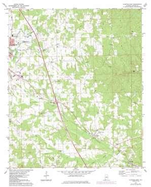 Clanton East topo map