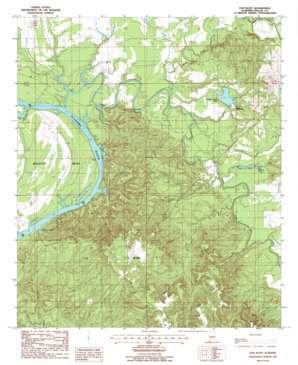 Elm Bluff USGS topographic map 32087b1