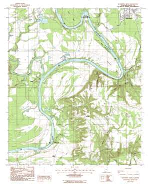 Blackwell Bend USGS topographic map 32087c1