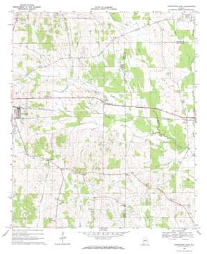 Uniontown East topo map