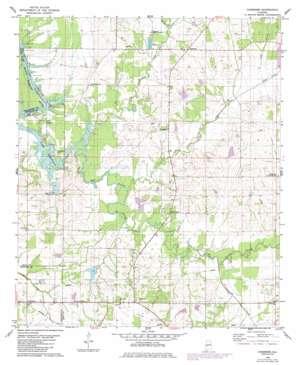 Casemore topo map