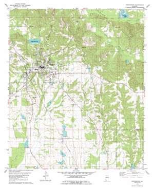 Greensboro topo map