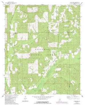 Oakmulgee topo map