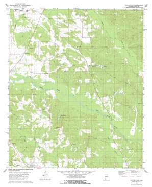 Sawyerville topo map