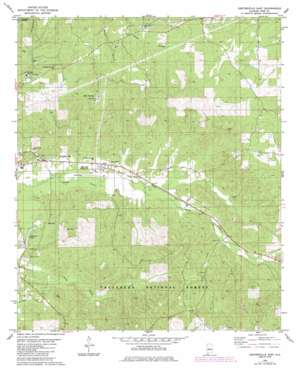 Centreville East topo map