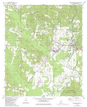 Centreville West topo map