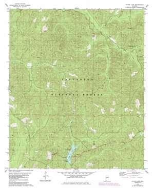 Payne Lake topo map