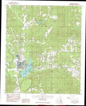 Quittman topo map