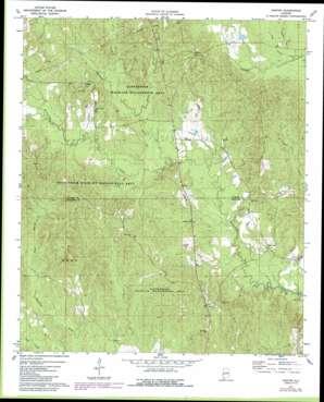 Gaston topo map