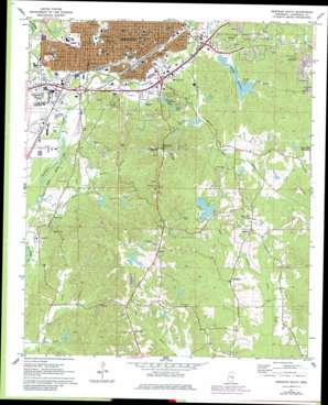 Meridian South topo map
