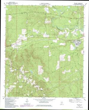Bellamy topo map