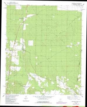 Porterville topo map