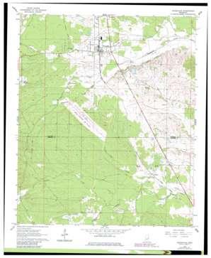 Shuqualak topo map