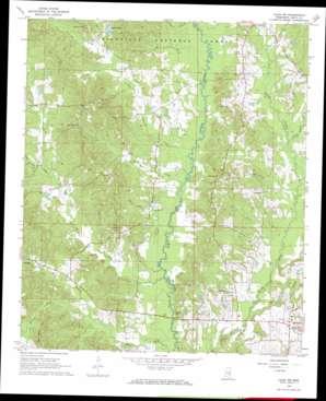 Louin Sw topo map