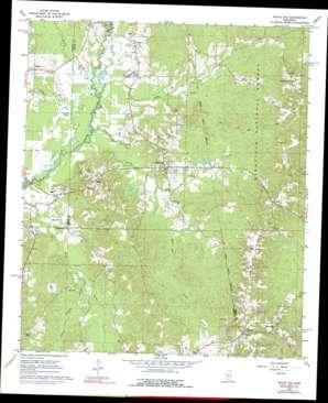 White Oak topo map