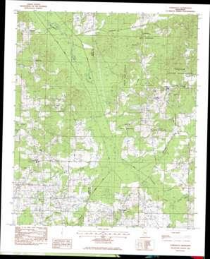 Conehatta topo map