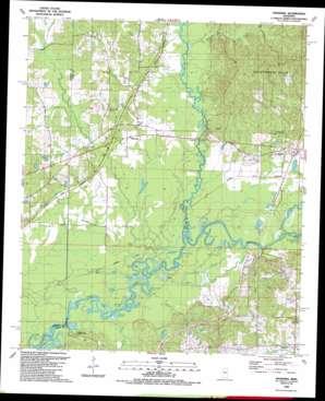 Ofahoma topo map