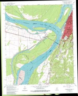 Vicksburg West topo map