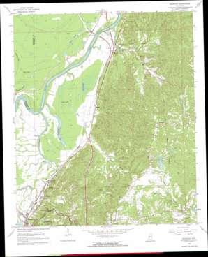 Redwood topo map