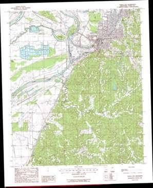 Yazoo City topo map