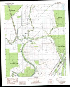 Holly Bluff topo map