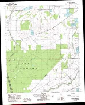 Bayland topo map