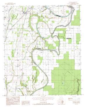 Crowville USGS topographic map 32091b5
