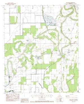 Gilleyville topo map