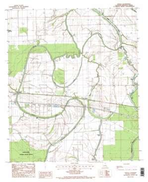 Tendal topo map