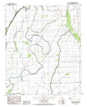 Caraway Lake topo map