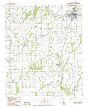 Oak Grove topo map