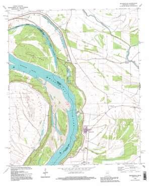 Mayersville topo map