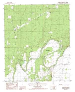 Twin Oaks topo map