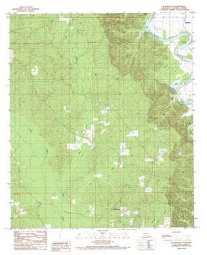 Blankston topo map