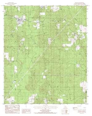 Bienville topo map