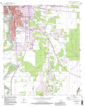 Monroe South topo map