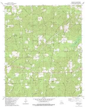 Cadeville USGS topographic map 32092d3