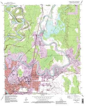 Monroe North topo map