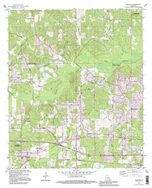 Calhoun topo map